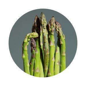 Sparris som illustrerar ren och naturlig mat